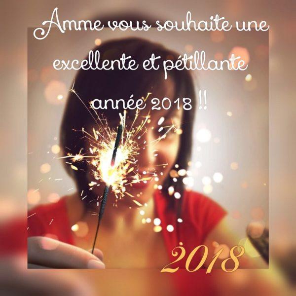Amme vous souhaite une excellente et pétillante année 2018