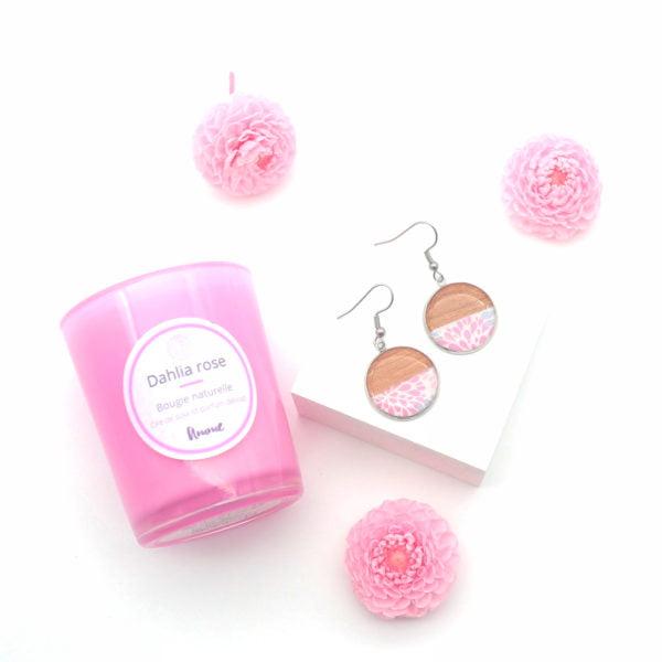 Coffret cadeau dahlia rose 1